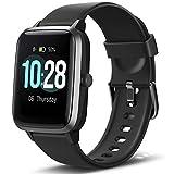 Letsfit Smartwatch, Fitness Tracker Voll Touchscreen Fitness Armband Uhr mit Pulsmesser Schlafmonitor Musiksteuerung, Sportuhr Schrittzähler für Frauen Männer Kinder Smart Watch für Android und iOS