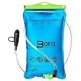 BoraSports Trinkblase 2L mit Beissventil - BPA-frei, antibakteriell und auslaufsicher für jeden Trinkrucksack (2 Liter)