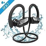 Mpow D7 Bluetooth Kopfhörer Sport, 10-12 Stunden Spielzeit/ BASS+ Technologie, IPX7 Wasserdichte Sportkopfhörer Laufen/ Joggen, In-Ear Bluetooth 4.1 Kopfhörer mit Mikrofon für iPhone Android