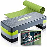 Body & Mind® Aerobic Steppbrett Elite 3-Stufen Stepper Step-Bench mit gratis Anti-Rutsch-Matte & exklusiven Trainings E-Book