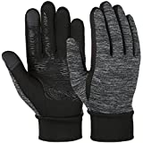 Vbiger Herren Touchscreen Fahrhandschuhe SMS Handschuhe für Frühling Herbst Winter, Gr.-L, Schwarz-1