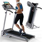 Kinetic Sports Laufband KST2700FX   klappbar elektrisch und bis 10km/h   500 Watt leiser Motor   12 Trainingsprogramme   Belastbar bis 120 kg  Geeignet für Zuhause zum Joggen, Gehen und Laufen
