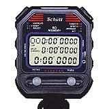 Schütt Stoppuhr PC-90 (60 Memory Speicher   Uhrzeit & Datum   Dualtimer) - Digital Profi Stoppuhr mit Druckpunktmechanik   spritzwasserfest  Trainer