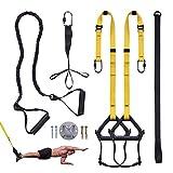 Clothink Schlingentrainer Sling Trainer Set mit Türanker Einstellbar Fitness Zuhause Suspension - geeignet für unterwegs und für das Training im Innen- und Außenbereich