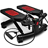 Sportstech 2in1 Twister Stepper mit Power Ropes - STX300 Modell 2019 Drehstepper & Sidestepper für Anfänger & Fortgeschrittene,Up-Down-Stepper mit Multifunktions-Display-Hometrainer Widerstand
