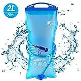 AODOOR 2 Liter Trinkblase, Wasserblase mit Beissventil, Hydration Blase staubdichte und antimikrobielle, Hydration Bladder Sport Wasser Blasen Trinkbeutel Wassertank für Wandern, Radfahren, Campen