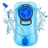 SKL Trinkblase 2L mit Beissventil - BPA-frei, antibakteriell und auslaufsicher Trinkrucksack geeignet - Hochwertiges Trinksystem 2 Liter für Trinkrucksack
